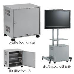 KIC フラットディスプレイスタンド用オプション AVボックス PB-402