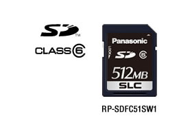 パナソニック Panasonic 業務用SDメモリーカード FX/EXシリーズ SD(512MB/CLASS6) RP-SDFC51SW1