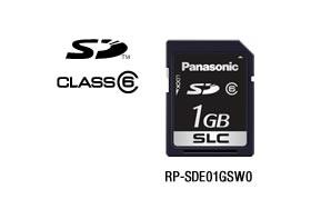 パナソニック Panasonic 業務用SDメモリーカード FX/EXシリーズ SD(1GB/CLASS6) RP-SDE01GSW0