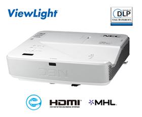 NEC フルHD対応 超短焦点プロジェクター ViewLight NP-U321HJD