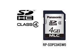 パナソニック Panasonic 業務用SDメモリーカード PCシリーズ SDHC(4GB/CLASS4) RP-SDPC04SW0