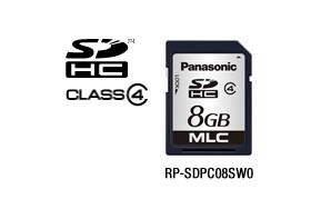パナソニック Panasonic 業務用SDメモリーカード PCシリーズ SDHC(8GB/CLASS4) RP-SDPC08SW0