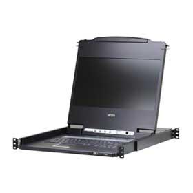 PRINCETON ATEN 17.3インチフルHDワイド対応LCD一体型コンソールドロワー CL6700MWJJS/ATEN