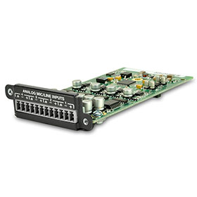 シーメトリックス Symetrix 入力拡張カード(Edge、Radiusシリーズ用) 4 Channel Analog Input Card(dBC-8)